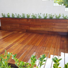 Jardiniera Lemn Exotic Garapa - Custom